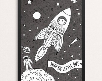 "Art/birth print ""Little astronaut"""