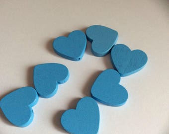 1 wooden heart size 20mm for pacifier clip bead