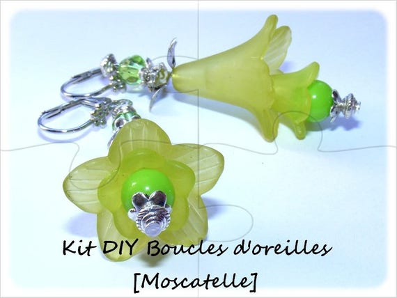 """Kit """"Mother"""" earrings to make yourself [muscatel]"""