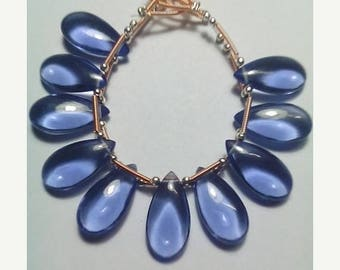 80% OFF SALE Tanzanite Pear Shape Smooth Briolette 5 Beads