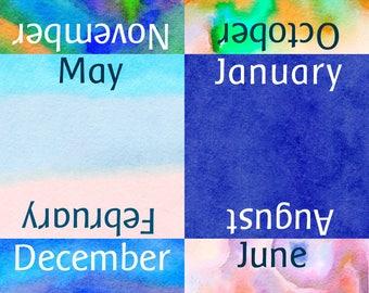 Perpetual Calendar Cards, digital download