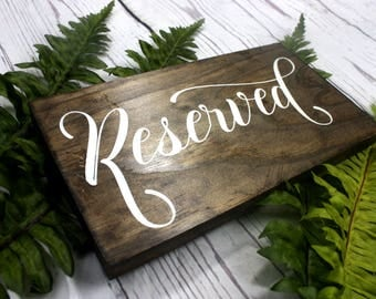 Reserved Sign. Wedding Reserved Sign. Reserved Table Sign. Reserved Chair Sign. Wedding Sign. Wedding Signage. Reserved Signs for Wedding