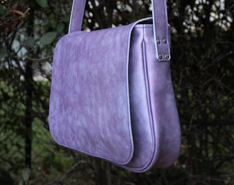 shoulder bag. woman Hobo; woman leather bag. Purple leather bag