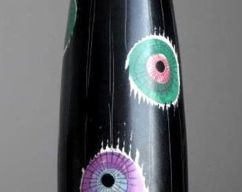 RARE Vintage 1950's SCHRAMBERG 4925 PISA Vase West German Pottery Fat Lava Era