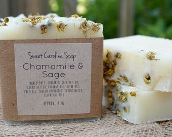 Chamomile & Sage Handmade Organic Soap