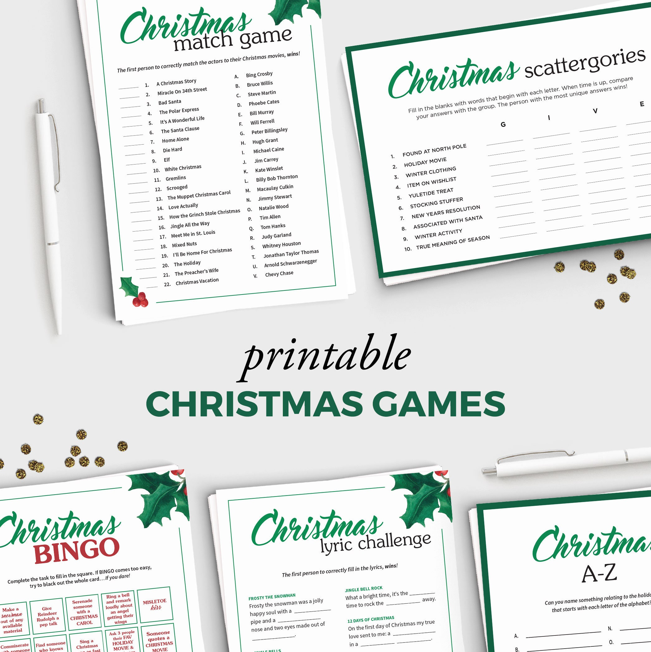 Free Adult Christmas Party Games: 5 Fun Holiday Party Games For Adults Printable Christmas
