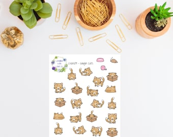 CHAR07 - Ginger Cats Planner Stickers