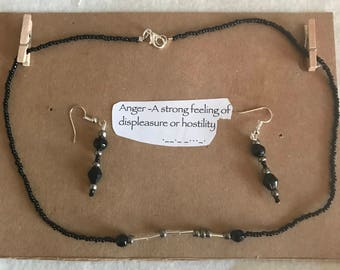 Emotions Jewelry Necklace and Earring set
