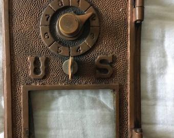 Antique US Post Office Box Door