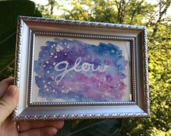 Glow Original Watercolor Painting