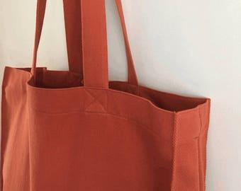 BIG SALE - Dark Tangerine Canvas Tote bag