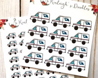 Mail Truck // Happy Mail Etsy Orders Doodle Box