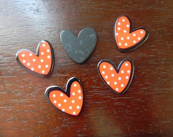 Resin heart embellishment