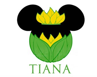 Tiana Minnie Mouse Disney Vacation Princess and the Frog Matching Mother Daughter Disney World Iron On Decal Vinyl for Shirt 096