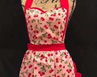 Retro Sweetheart Top Apron Cherry