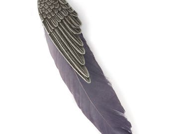 Wing Pendant w/ Real Feather (STEAM289)