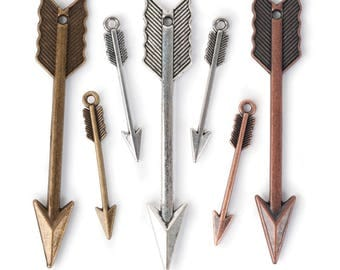 Arrows Charm Pack - silver, gold and bronze (STEAM314)