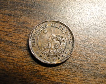 1951 Bolivia One 1 Boliviano  - Great Coin!