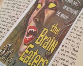 The brain eaters movie poster, original, handmade, reading, scifi, horror, bookmark