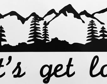 Lost in the Woods Mountains Decal