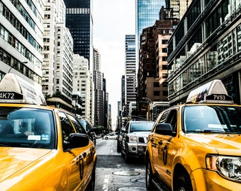 New York Taxi - New York City Taxi - Fine Art Photography Print - New York Photography - Travel - Yellow Taxi - New York Print  - City Photo