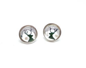 Handmade 8mm Small Sterling Silver Christmas Deer Ear Christmas gift