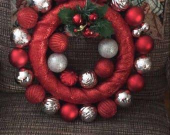 Small Christmas Ball Wreath