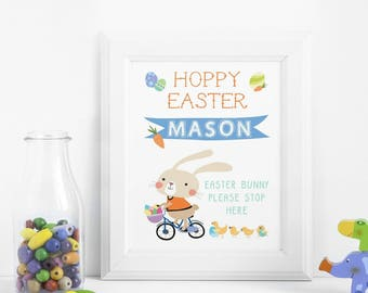 Easter Print || Personalised Card || Easter Bunny || Rabbit || Easter Decoration