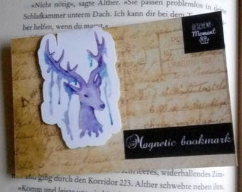 Magnetic Bookmark Watercolor Deer