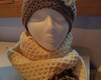 Crochet Hat and Cowl