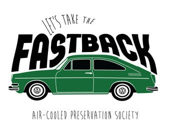 VW Fastback Type 3 T-Shirt