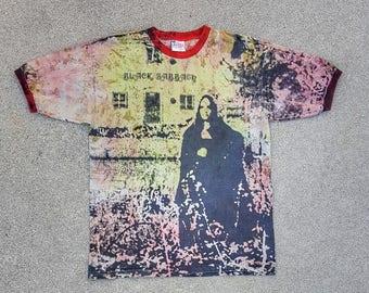 Vintage Black Sabbath Tie Dye T Shirt Debut Album Cover