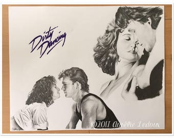 Painting with pencil graphite DIRTY DANCING