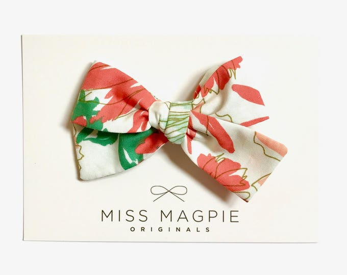 Sloane bow || Graphic floral