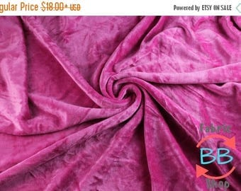 30% OFF Hot Pink Heavy Organic Bamboo Velour Fabric, Cloth Diaper Material, Pink Bamboo Velour, Heavy Bamboo Fabric, 340gsm