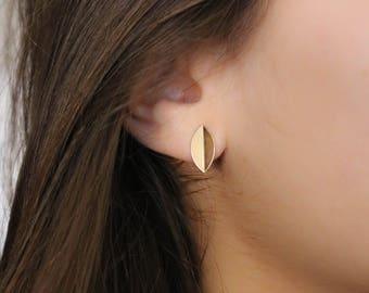 Boucles d'oreilles Liv dorées à l'or fin 24 carats