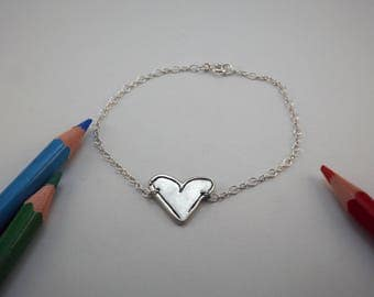 Immortalize your child's drawing in art jewelry - 925 Silver bracelet -