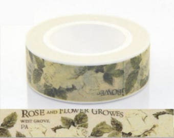 Washi tape masking tape floral vintage