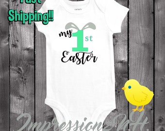 My 1st Easter Baby onesie - customizable with ANY color lettering