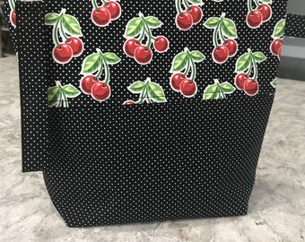 Cheery Cherries                                                     Knitting Project Bag
