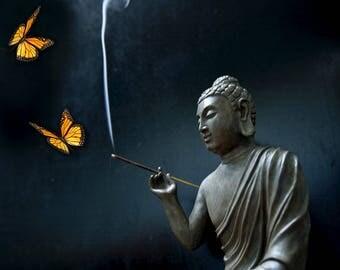 Art swirls Buddhist number 1 digital file signed photo