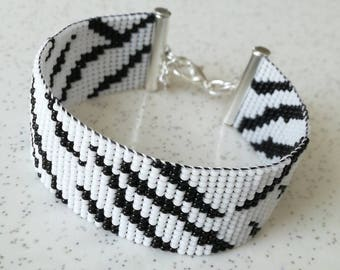 Zebra pattern Cuff Bracelet