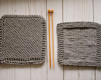 Knit 100% Cotton Pair of Dishcloths