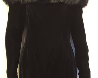 "Velvet Off Shoulder Black Dress by ""Tadashi""Bullocks Wilshire size 12"