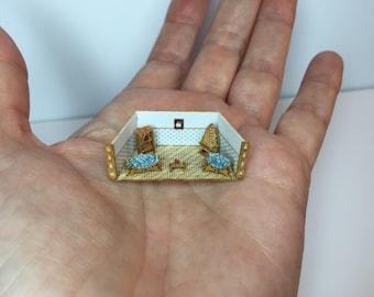 Miniature micro 1:288th scale room box diorama living room set 1 cm small