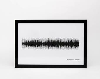 tennessee whiskey framed 11x17 soundwave print