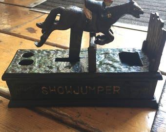 "Solid iron ""Showjumper""money bank|Gift|Home|Decor|vintage"