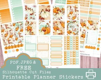 Pumpkin Printable Planner Stickers, Erin Condren Planner Stickers, Weekly Stickers, Pumpkin Stickers,  Fall Stickers, Pumpkin Spice, Autumn