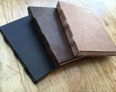 Medieval hand bound book in leather