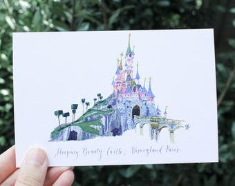 Sleeping Beauty Castle (Disneyland Paris) // Postcard